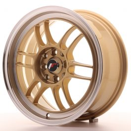 JR Wheels JR7 16×7 ET38 4×100/114 Gold w/Machined Lip