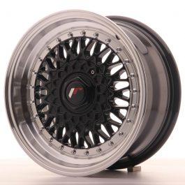 JR Wheels JR9 15×7 ET20 4×100/108 Gloss Black w/Machined Lip