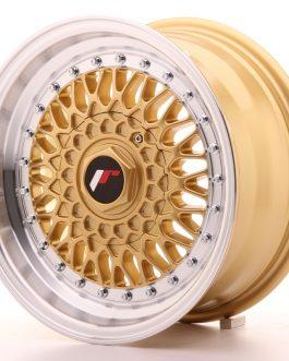 JR Wheels JR9 15×7 ET20 4×100/108 Gold w/Machined Lip