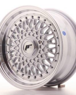 JR Wheels JR9 15×7 ET20 4×100/108 Silver w/Machined Lip+Silver Rivets