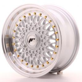 JR Wheels JR9 15×7 ET20 4×100/108 Silver w/Machined Lip