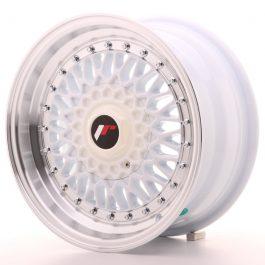 JR Wheels JR9 15×7 ET20 4×100/108 White w/Machined Lip