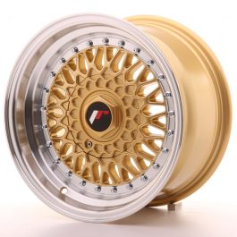 JR Wheels JR9 15×8 ET20 BLANK Gold w/Machined Lip