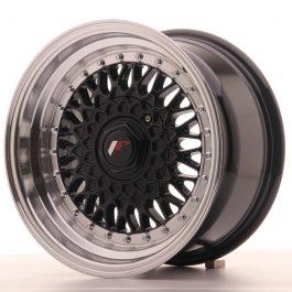 JR Wheels JR9 15×8 ET20 4×100/108 Gloss Black w/Machined Lip