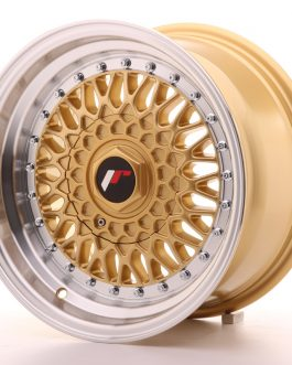 JR Wheels JR9 15×8 ET20 4×100/108 Gold w/Machined Lip