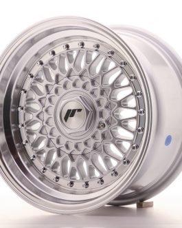 JR Wheels JR9 15×8 ET20 4×100/108 Silver w/Machined Lip+Silver Rivets