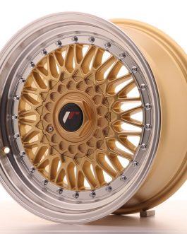 JR Wheels JR9 16×7,5 ET25 4×100/108 Gold w/Machined Lip
