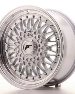 JR Wheels JR9 16×7,5 ET25 4×100/108 Silver w/Machined Lip+Silver Rivets