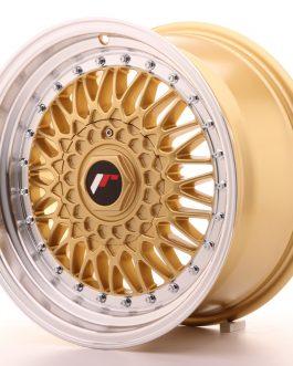 JR Wheels JR9 16×8 ET25 4×100/108 Gold w/Machined Lip