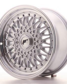 JR Wheels JR9 16×8 ET25 4×100/108 Silver w/Machined Lip+Silver Rivets