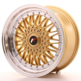 JR Wheels JR9 17×8,5 ET20-35 BLANK Gold w/Machined Lip