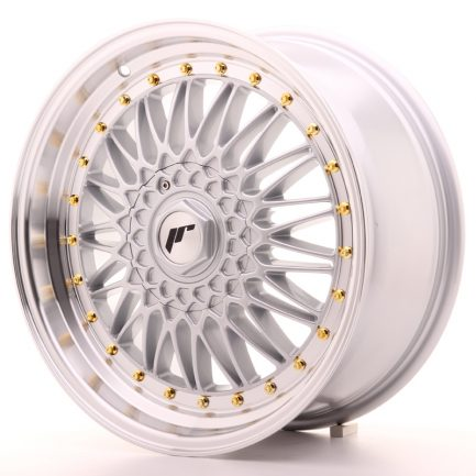 JAPAN RACING JR Wheels JR9 18x8 ET40 5x112/114 Silver w/Machined Lip 8.00x18