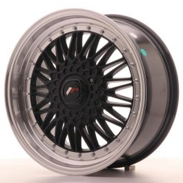 JR Wheels JR9 18×8 ET35-40 BLANK Gloss Black w/Machined Lip