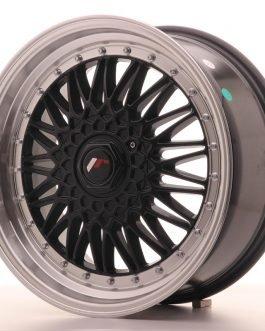 JR Wheels JR9 18×8 ET35-40 BLANK Gloss Black w/Machined Lip
