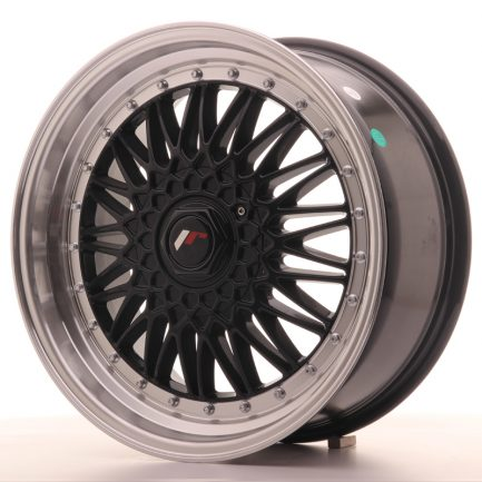 JAPAN RACING JR Wheels JR9 18x8 ET35-40 BLANK Gloss Black w/Machined Lip 8.00x18