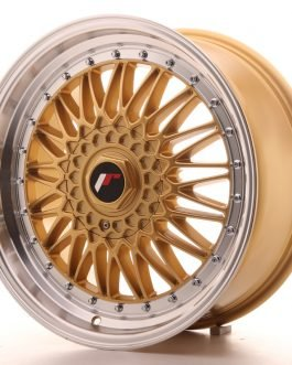 JR Wheels JR9 18×8 ET35-40 BLANK Gold w/Machined Lip