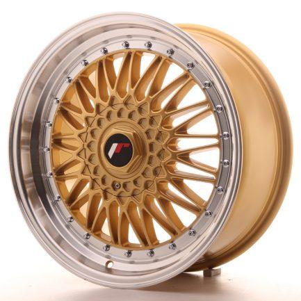 JAPAN RACING JR Wheels JR9 18x8 ET35-40 BLANK Gold w/Machined Lip 8.00x18