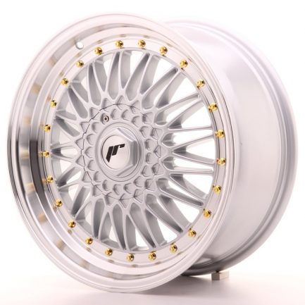 JAPAN RACING JR Wheels JR9 18x8 ET35-40 BLANK Silver w/Machined Lip 8.00x18