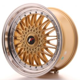 JR Wheels JR9 18×9 ET20-40 BLANK Gold w/Machined Lip