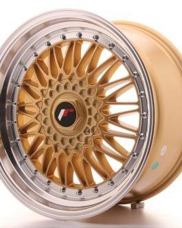 JR Wheels JR9 18×9 ET20-40 BLANK Gold w/Machined Lip