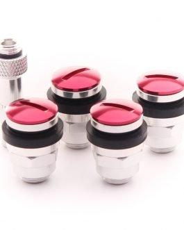 Set of Flat aluminum air valves JR v1 – RED