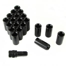 Set of BLACK LONG imbus lug nuts 12×1,5 + Key