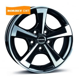 Borbet CWT black polished glossy 6×15 ET: 30 – 5×112