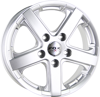 Fox Wheels VIPER Silver 6.5x15 ET: 50 - 5x118