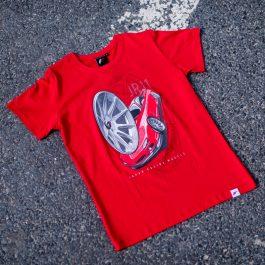 JR Men T-Shirt JR-11 Car Red Size L