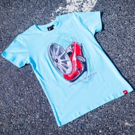 JR Men T-Shirt JR-11 Car Turquoise Size XL