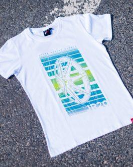 JR Men T-Shirt JR-20 Face White Size M