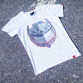 JR Men T-Shirt JR-21 Laurel White Size S