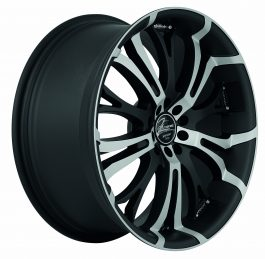 Barracuda TZUNAMEE Mattblack-polished 8.0×18 ET: 38 – 5×110