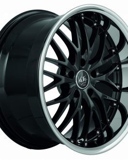 Barracuda VOLTEC T6 Higloss black inox lip 8.5×19 ET: 33 – 5×112