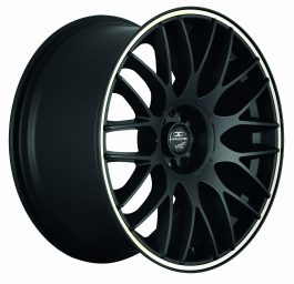 Barracuda KARIZZMA Mattblack Puresports / Color Trim weiss 8.5×19 ET: 28 – 5×110