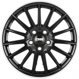 CMS C23 Diamond Rim Black 7.5×17 ET: 38 – 5×114.3