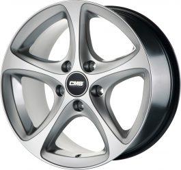 CMS C12 High Gloss Silver 9×18 ET: 43 – 5×130
