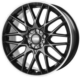 CMS C25 Diamond Rim Black 7.5×18 ET: 51 – 5×108