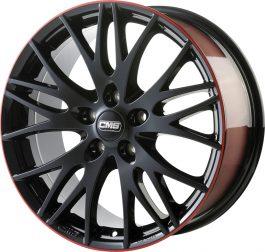 CMS C8 Black Red Gloss 7.5×17 ET: 41 – 5×112