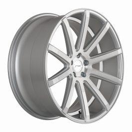 Corspeed DEVILLE Silver-brushed-Surface/ undercut Color Trim weiß 10.5×20 ET: 15 – 5×112