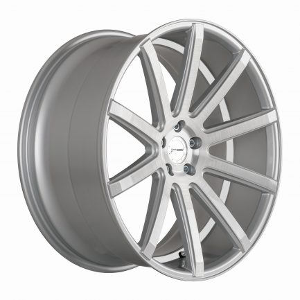 Corspeed DEVILLE Silver-brushed-Surface/ undercut Color Trim weiß 10.5x22 ET: 40 - 5x112