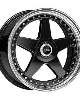 TEC Speedwheels GTE Black polished lip CB: 72.5 8×18 ET: 45 – 5×114.3