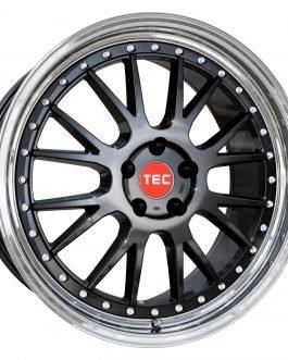 TEC Speedwheels GTE Black polished lip CB: 72.5 8.5×19 ET: 45 – 5×112