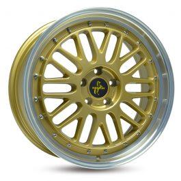Keskin-Tuning KT22 Gold Lip Polish 8.5×19 ET: 40 – 5×114.3
