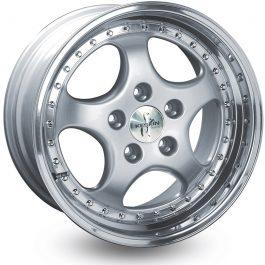 Keskin-Tuning KT2 Silver Lip Polish 8.5×18 ET: 52 – 5×130