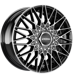 Ronal LSX BLACK FACE-CUT 7.0×16 ET: 38 – 4×100