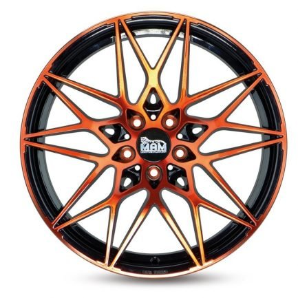 MAM B2 Black Front Orange 8.5x19 ET: 35 - 5x120