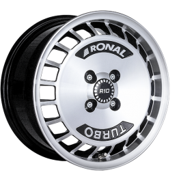 Ronal R10 TURBO BLACK FACE-CUT 7.0×15 ET: 28 – 4×100