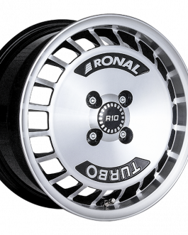Ronal R10 TURBO BLACK FACE-CUT 7.0×15 ET: 37 – 4×98
