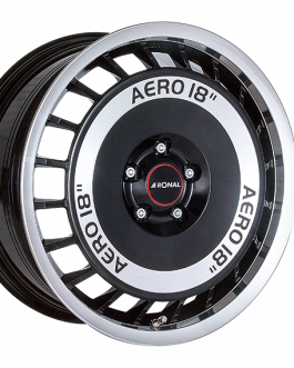 Ronal R50 AERO BLACK FACE-CUT 7.5×16 ET: 50 – 5×112